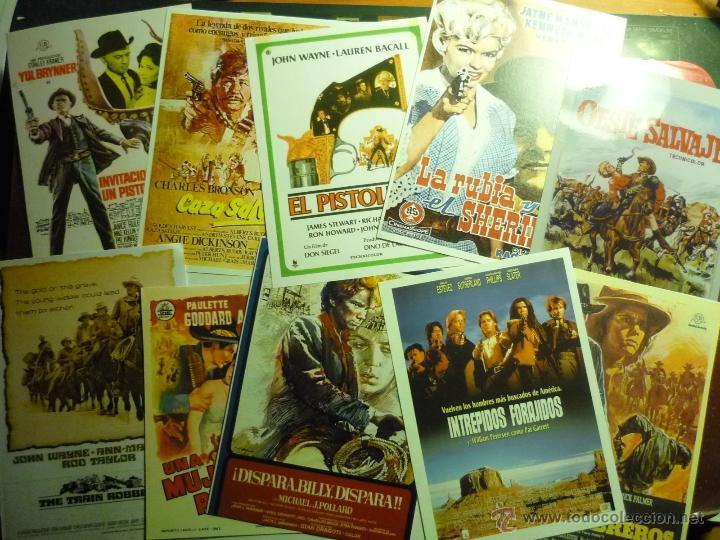 LOTE REPRODUCCIONES WESTERNS PAPEL Y FOTO -CARTELES ESPAÑOLES Y EXTRANJEROS (Cine - Reproducciones de carteles, folletos...)
