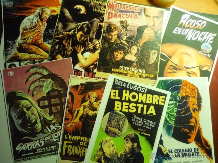 LOTE REPRODUCCIONES PELICULAS TERROR -FOTO Y PAPEL-CARTELES ESPAÑOLES Y EXTRANJEROS (Cine - Reproducciones de carteles, folletos...)