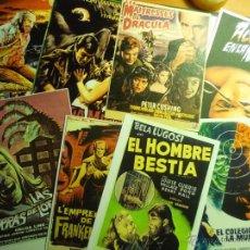 Cine: LOTE REPRODUCCIONES PELICULAS TERROR -FOTO Y PAPEL-CARTELES ESPAÑOLES Y EXTRANJEROS. Lote 43804822