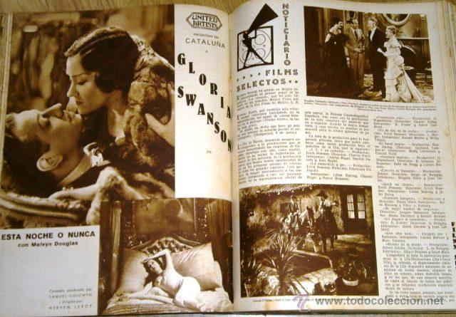 Cine: Tomo de 26 revistas encuadernadas Films Selectos en Barcelona 1933 - Foto 7 - 43857749