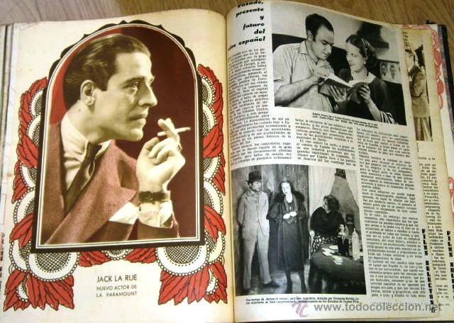 Cine: Tomo de 26 revistas encuadernadas Films Selectos en Barcelona 1933 - Foto 15 - 43857749