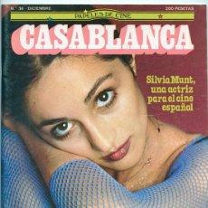 Cine: PAPELES DE CINE CASABLANCA - Nº 36 - 1983 - SILVIA MUNT, VALLADOLID 83, YILMAZ GÜNEY, EPÍLOGO. Lote 43861342