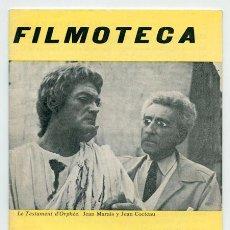 Cine: FILMOTECA - TEMPORADA 1972-73 - Nº 7 - JEAN COCTEAU, PÍO BAROJA, PIERRE PRÉVERT. Lote 43861500