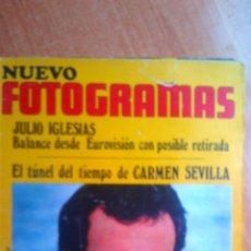 Cine: NUEVO FOTOGRAMAS 9 OCTUBRE 1970 Nº1147 JULIO IGLESIAS. Lote 43908974