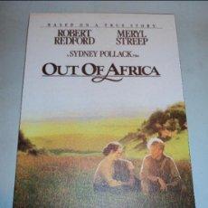 Cine: CUADRO-LÁMINA SERIGRAFIADA DE LA PELÍCULA MEMORIAS DE AFRICA DE SYDNEY POLLACK.. Lote 30950274