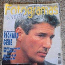 Cinéma: FOTOGRAMAS Nº 1787 -- RICHARD GERE - ALBUM CARMEN SEVILLA -- JULIO 1992 --. Lote 44201444