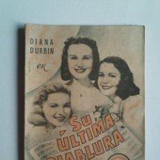 Cine: SU ÚLTIMA DIABLURA DE DIANA DURBIN - PUBLICACIONES CINEMA - AÑO 1941 - 66 PÁGINAS -15X21 -VER FOTOS. Lote 44260505