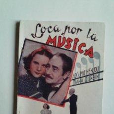 Cine: LOCA POR LA MÚSICA DE DEANNA DURBIN - PUBLICACIONES CINEMA - 66 PÁGINAS -15X21 -VER FOTOS. Lote 44260668
