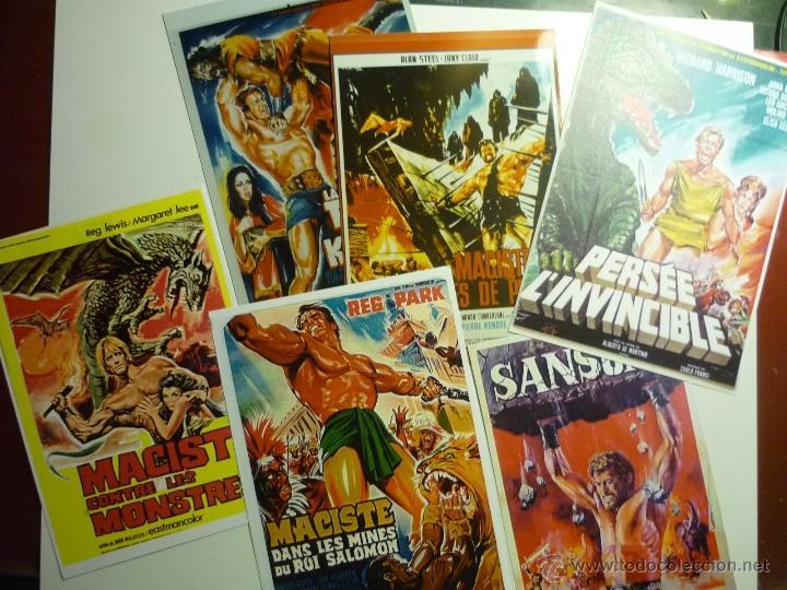 LOTE CARTELES EXTRANJEROS PEPLUMS EN FOTO Y PAPEL (Cine - Reproducciones de carteles, folletos...)