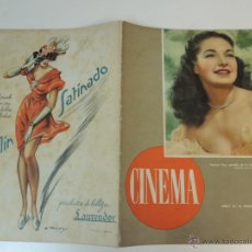 Cine: REVISTA CINEMA Nº 10 1946 - PATRICIA ROC - SUDAN MARIA MONTEZ. Lote 44424843