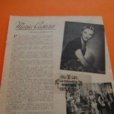 Cinema: AÑO 1949 - MARIA CASARES - 1 PAG.. Lote 118061015