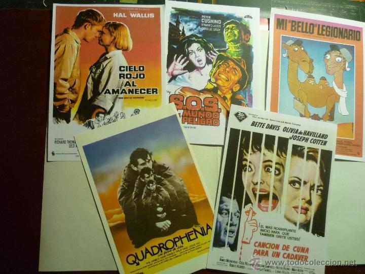 LOTE REPRODUCC.-PAPEL PELICULAS DIVERSAS (Cine - Reproducciones de carteles, folletos...)