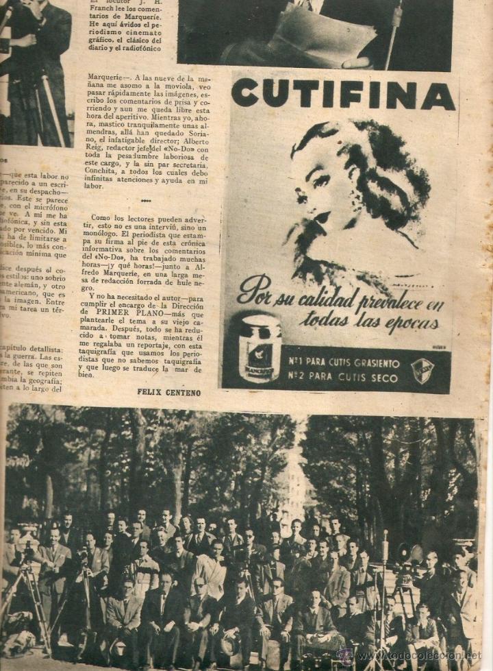 Cine: AÑO 1944 JESUS TORDESILLAS NOTICIARIO NO-DO NODO HISTORIA PRIMER NOTICIARIO DE LA FALANGE BARDINET - Foto 3 - 44779988