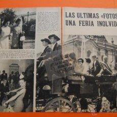 Cine: ARTICULO REVISTA 1966 - SEVILLA FERIA DE ABRIL GRACE KELLY JACQUELINE KENNEDY - 16 PAG.. Lote 44965899