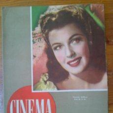 Cine: CINEMA, REVISTA CINEMATOGRÁFICA. NÚMERO 29 DE FECHA 1 DE JUNIO DE 1947. MUY NUEVA. Lote 45012447