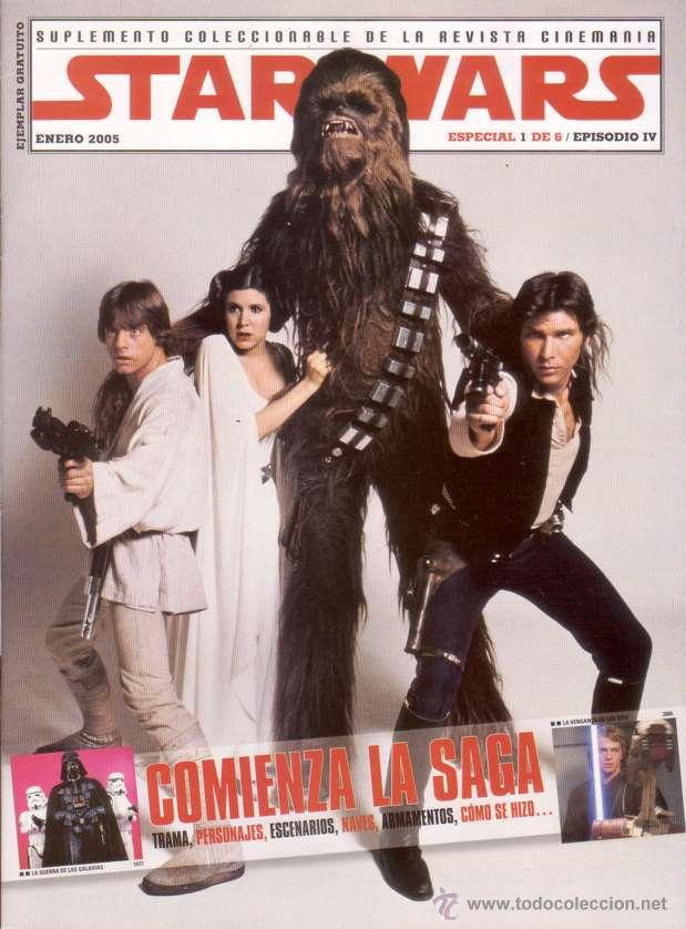 COMPLETA - STAR WARS SUPLEMENTO COLECCIONABLE # 1 AL 6 (CINEMANIA,2005) - GUERRA DE LAS GALAXIAS (Cine - Revistas - Cinemanía)