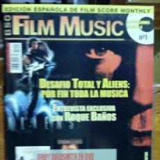 Cine: REVISTA FILM MUSIC Nº 1 ROQUE BAÑOS JERRY GOLDSMITH ENNIO MORRICONE ALIENS EL SANTO COPLAND OSCARS. Lote 45171969