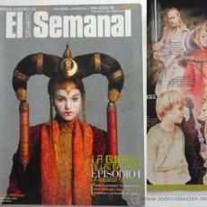 Cine: EL SEMANAL REVISTA LA GUERRA DE LAS GALAXIAS ANÉCDOTAS STAR WARS PORTMAN EWAN MCGREGOR CINE ARTE ETC. Lote 45186413