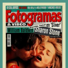 Cine: REVISTA FOTOGRAMAS NUM 1800 SEPTIEMBRE 1993. WILLIAM BALDWIN, SHARON STONE, ARNOLD SCHWARZENEGGER. Lote 129411874