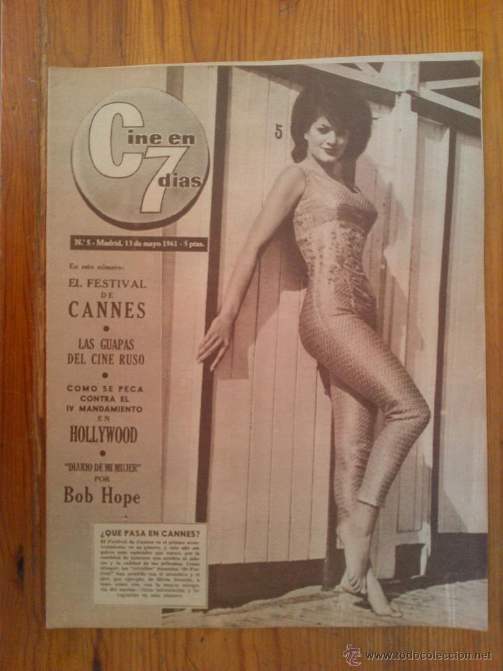 CINE EN 7 DÍAS, Nº 5 DE MAYO DE 1961. SILVIA SORENTE. BELLAS CINE DE MOSCÚ. MARA BERNY. BOB HOPE (Cine - Revistas - Cine en 7 dias)