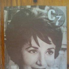 Cine: CINE EN 7 DÍAS, Nº 9 DE JUNIO DE 1961. PORTADA CONCHITA VELASCO. GRETA GARBO. MARÍA ALBAICÍN. Lote 45244497