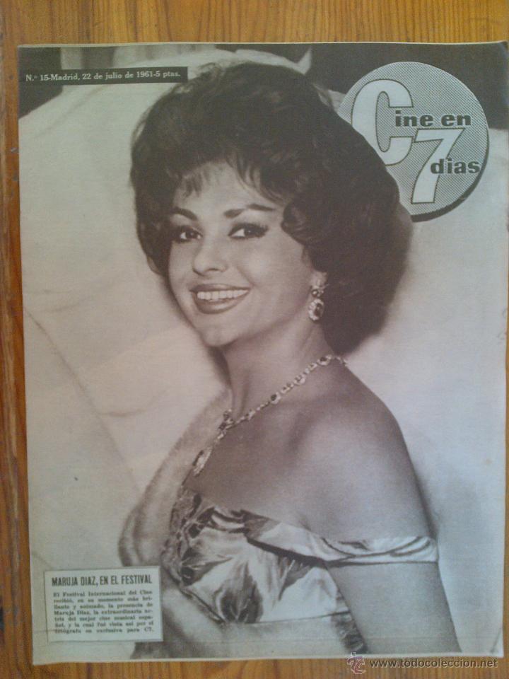 CINE EN 7 DÍAS, Nº 15, DE JULIO DE 1961. MARUJA DÍAZ. A. EKBERG. DIANA DORS. SOFÍA LOREN.TONY CURTIS (Cine - Revistas - Cine en 7 dias)