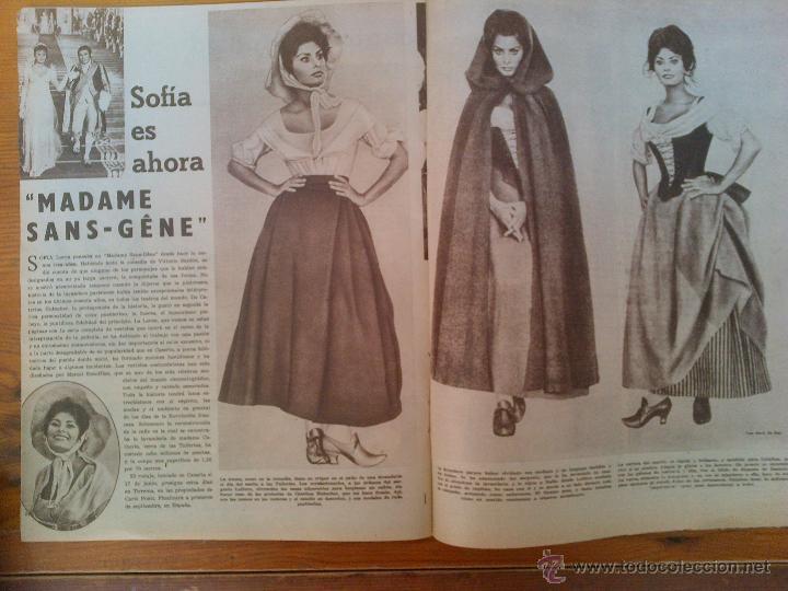 Cine: Cine en 7 Días, nº 15, de julio de 1961. Maruja Díaz. A. Ekberg. Diana Dors. Sofía Loren.Tony Curtis - Foto 2 - 45244877