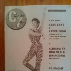 Cine: CINE EN 7 DÍAS, Nº 16, DE JULIO DE 1961. XAVIER CUGAT. ABBE LANE. SH. MACLAINE. MERCEDES ALONSO. Lote 45247242
