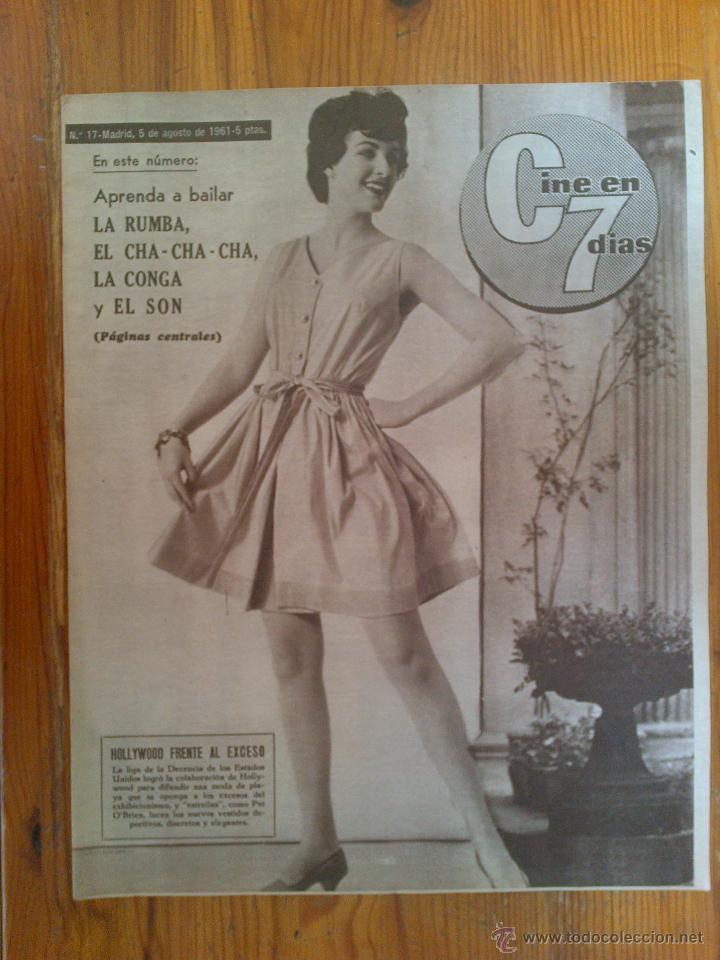 CINE EN 7 DÍAS, Nº 17, DE AGOSTO DE 1961. PORTADA PAT O'BRIEN. NINA Y FREDERIK. FRANCISCO RABAL (Cine - Revistas - Cine en 7 dias)