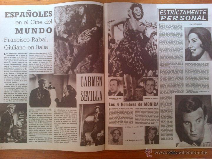 Cine: Cine en 7 Días, nº 17, de agosto de 1961. Portada Pat OBrien. Nina y Frederik. Francisco Rabal - Foto 2 - 45247359
