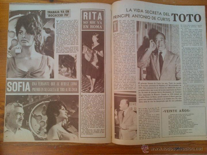 Cine: Cine en 7 Días, nº 26, de octubre de 1961. Portada Jacqueline Sassard. Marie Laforet.Brigitte Bardot - Foto 2 - 45248445