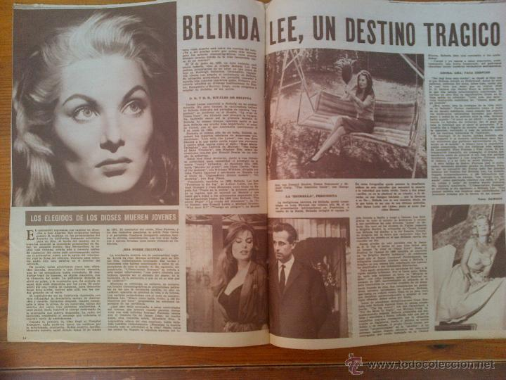 Cine: Cine en 7 Días, nº 28, de octubre de 1961. Rosanna Schiafino. Pablito Calvo. Belinda Lee. M. Monroe - Foto 2 - 45248656