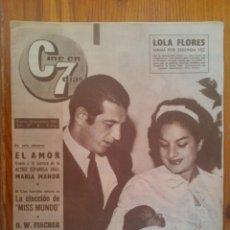 Cine: REVISTA CINE EN 7 DÍAS, NÚMERO 32 DE FECHA 18 DE NOVIEMBRE DE 1961. PORTADA LOLA FLORES Y ANTONIO. Lote 45248997