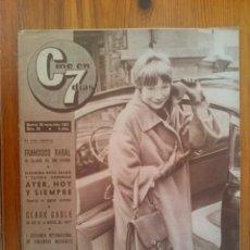 Cine: CINE EN 7 DÍAS, Nº 33, DE NOVIEMBRE DE 1961. SHIRLEY MCLAINE. FRANCISCO RABAL. CLARK GABLE. Lote 45249085