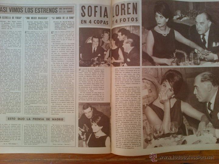 Cine: Cine en 7 Días, nº 34, de diciembre de 1961. Lorenza Flores. David Niven. Kim Novak. Sofía Loren - Foto 2 - 45249169