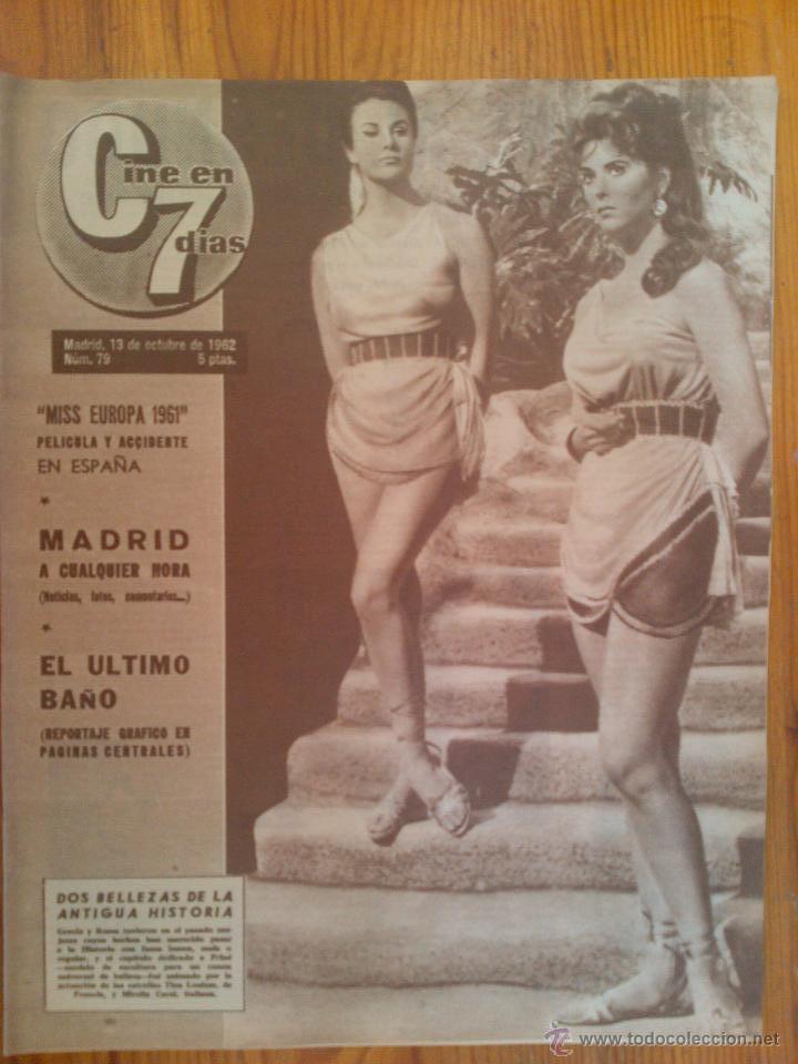 CINE EN 7 DÍAS, Nº 79 DE FECHA 13 DE OCTUBRE DE 1962. FELLINI. ANTONIO ORDOÑEZ. PAUL ANKA. ANTONIO (Cine - Revistas - Cine en 7 dias)
