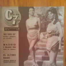 Cine: CINE EN 7 DÍAS, Nº 79 DE FECHA 13 DE OCTUBRE DE 1962. FELLINI. ANTONIO ORDOÑEZ. PAUL ANKA. ANTONIO. Lote 45249891