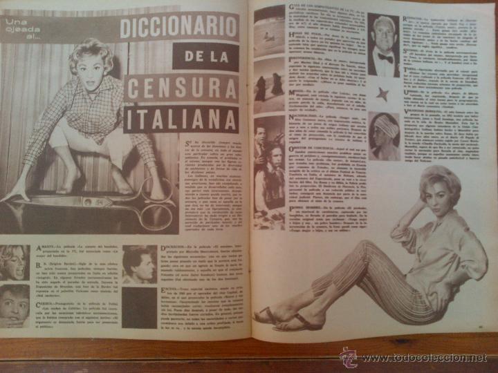 Cine: Cine en 7 Días, nº 79 de fecha 13 de octubre de 1962. Fellini. Antonio Ordoñez. Paul Anka. Antonio - Foto 2 - 45249891