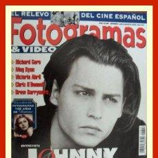 Cine - REVISTA FOTOGRAMAS NUM. 1822 AGOSTO 1995. JOHNNY DEPP, RICHARD GERE, MEG RYAN, ETC. - 58711131