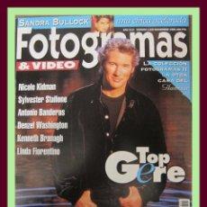 Cine: REVISTA FOTOGRAMAS NUM. 1825 NOVIEMBRE 1995. RICHARD GERE, NICOLE KIDMAN, LINDA FIORENTINO, ETC.. Lote 45251066