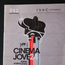 Cine: FOLLETO CINEMA JOVE 24 - FESTIVAL INTERNACIONAL DE CINE - IVAC - VALENCIA 2009. Lote 45314735