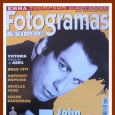 Cine: REVISTA FOTOGRAMAS 1829 MARZO 1996. JOHN TRAVOLTA, NICOLAS CAGE, SUSAN SARANDON, VICTORIA ABRIL. Lote 45333600