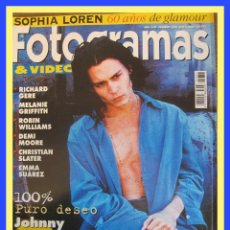 Cine: REVISTA FOTOGRAMAS NUM 1831 MAYO 1996. JOHNNY DEPP, RICHARD GERE, ROBIN WILLIAMS, ETC.. Lote 58711143