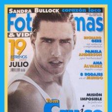 Cine: REVISTA FOTOGRAMAS NUM. 1833 JULIO 1996. TOM CRUISE, SANDRA BULLOCK, RICHARD GERE, ETC.. Lote 45333913