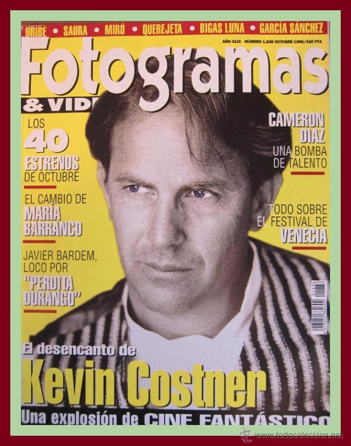 REVISTA FOTOGRAMAS NUM. 1836 OCTUBRE 1996. KEVIN COSTNER, CAMERON DIAZ, JAVIER BARDEM, ETC. (Cine - Revistas - Fotogramas)