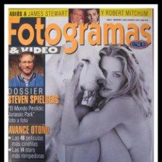 Cine: REVISTA FOTOGRAMAS N. 1846 AGOSTO 1997.ELIZABETH SHUE, STEVEN SPIELBERG,JAMES STEWART,ROBERT MITCHUM. Lote 45340899