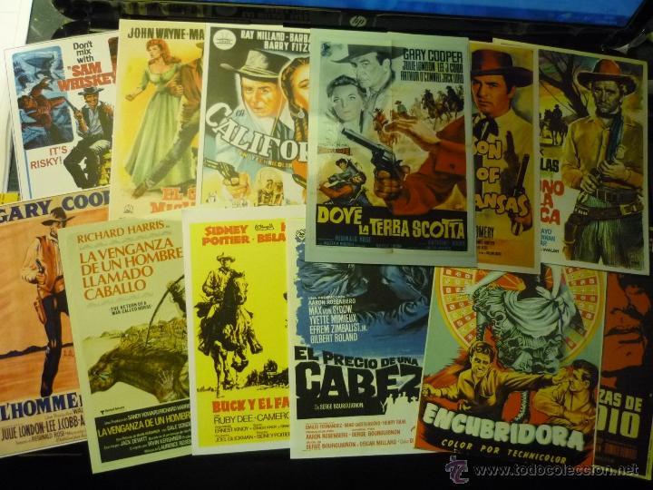 LOTE REPRODUCC.CARTELES ESPAÑOLES Y EXTRANJEROS PAPEL Y FOTO .-WESTERNS (Cine - Reproducciones de carteles, folletos...)