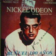 Cine: 13 REVISTA TRIMESTRAL DE CINE NICKEL ODEON INVIERNO 1998 BUÑUEL 100 AÑOS. Lote 46568735