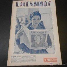 Cine: REVISTA ESCENARIOS - CINE Y OTROS ESPECTACULOS - VALENCIA 1929 - NUMERO 63. Lote 45498597