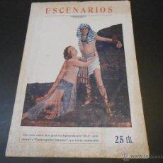 Cine: REVISTA ESCENARIOS - CINE Y OTROS ESPECTACULOS - VALENCIA 1927 - NUMERO 6. Lote 45500911